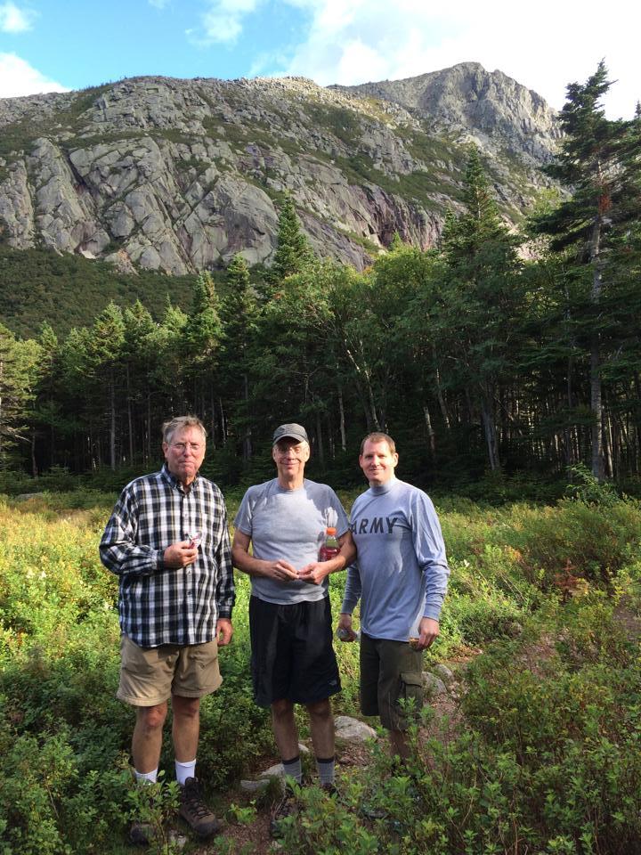 Hugh, Tom and Nathan at Chimney Pond