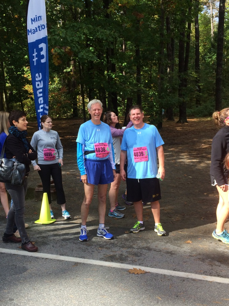 Bruce and Greg ready to run