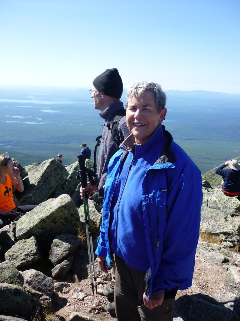 Portia and John at the summit
