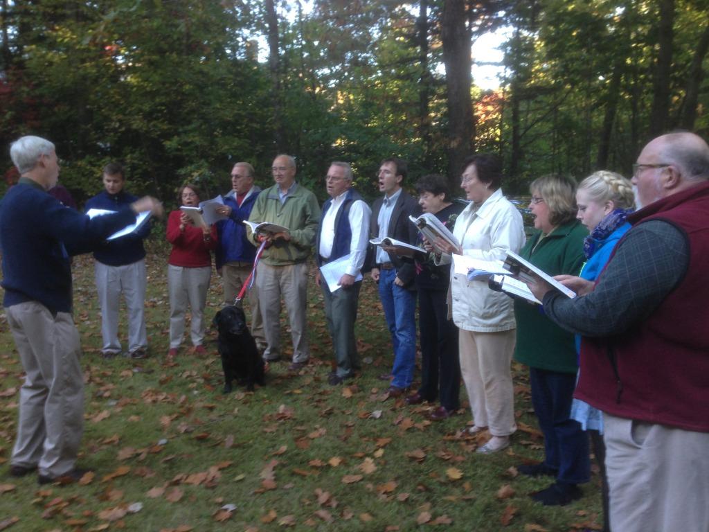 The Saint Mary's Choir sang