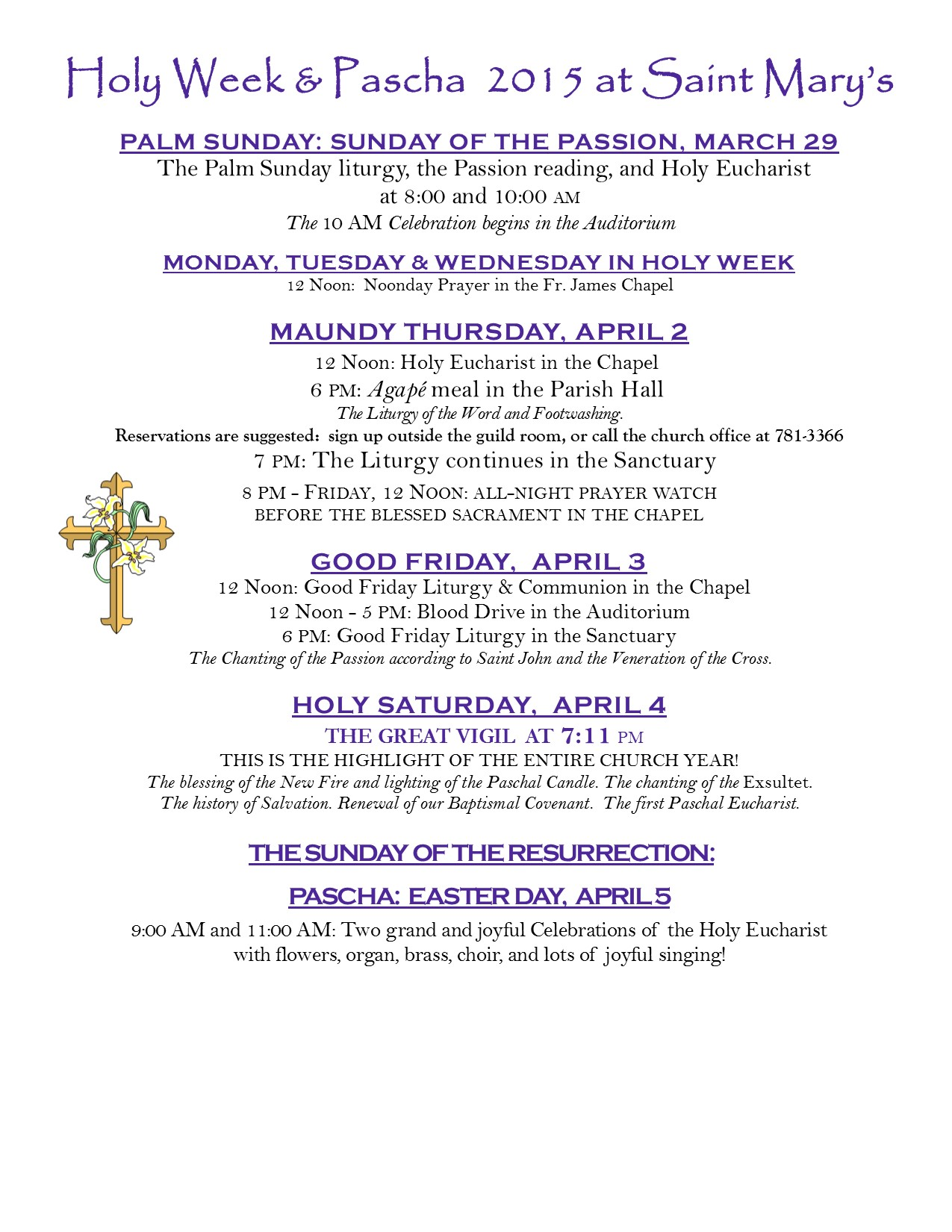 Holy Week 15  flyer